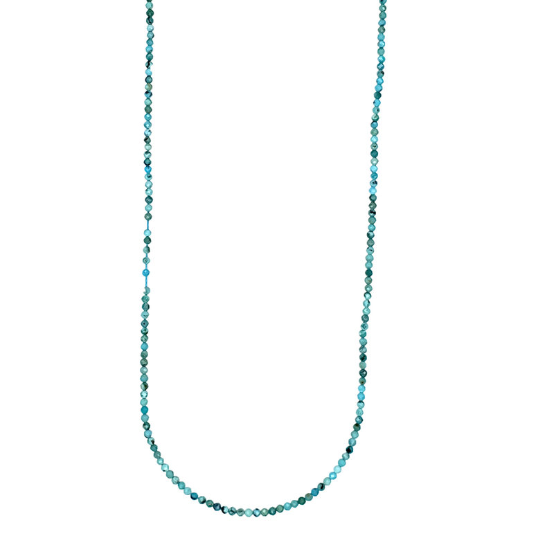 "Bead World Turquoise Faceted 16"" Strand"
