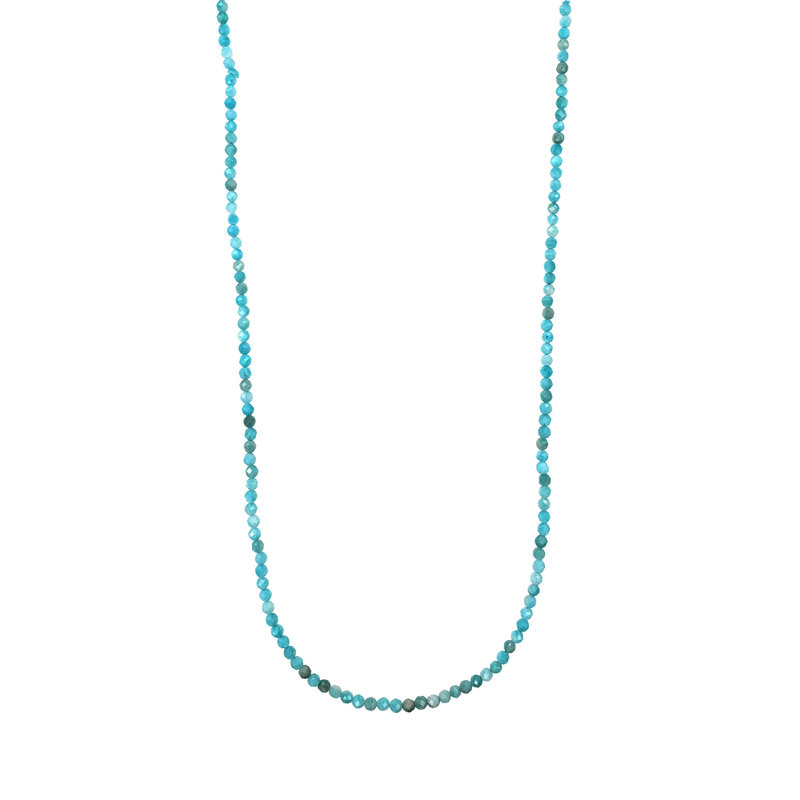 "Bead World Amazonite Faceted 16"" Strand"