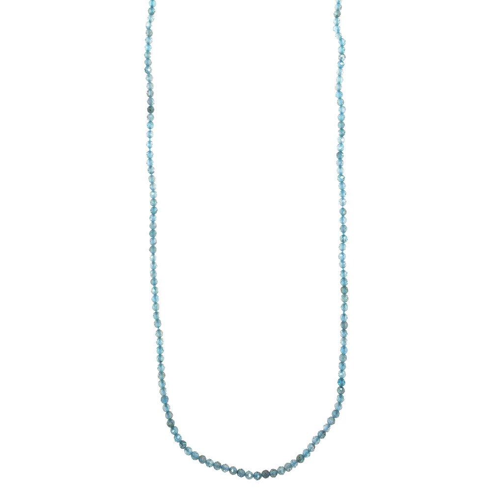 "Bead World Light Apatite Faceted 16"" Strand"