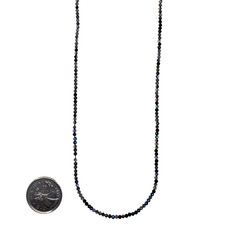 """Bead World Mixed Obsidian Faceted 16"""" Strand"""