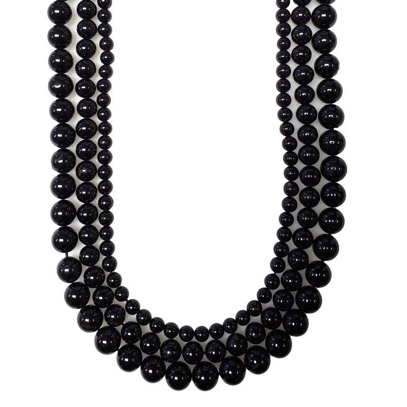 "Bead World Black Tourmaline 16"" Strand"