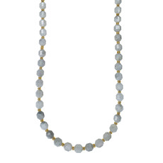 """Bead World Moonstone  7mm x8mm  16"""" Strand Faceted"""