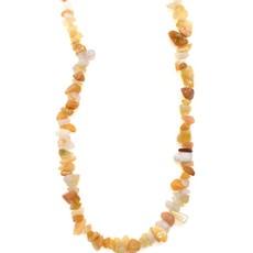 """Golden Quartz Stone Chip 33"""" Strand"""
