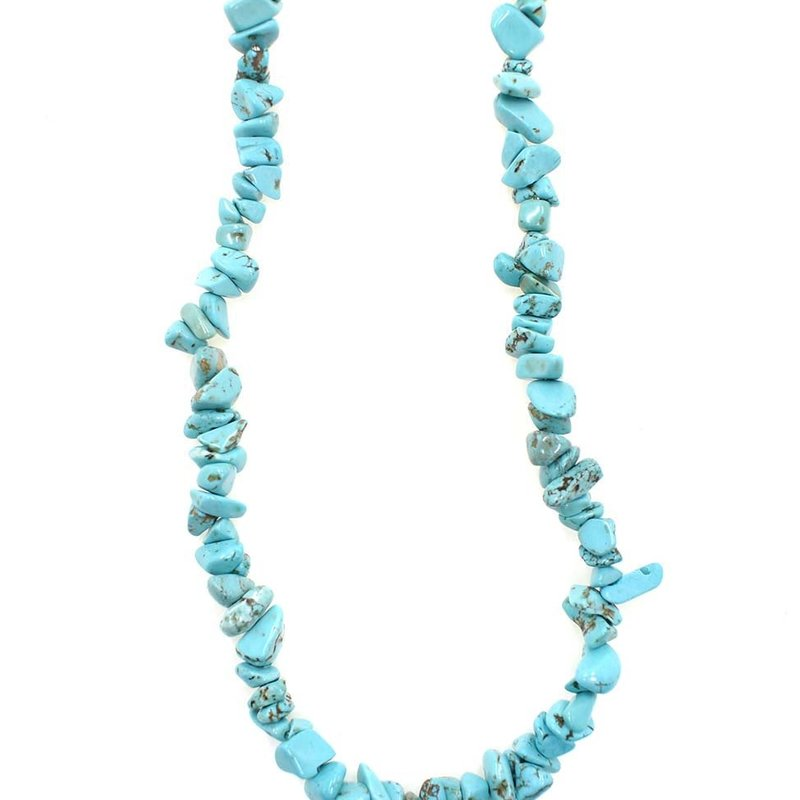 """Magnesite (dyed/stabilized) Stone Chip 33"""" Strand"""