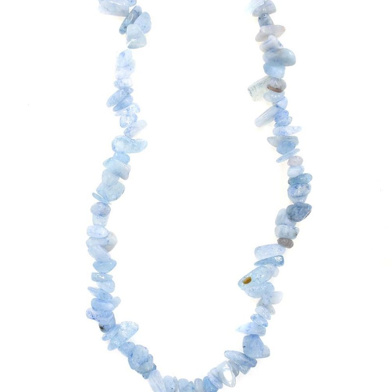 "Aquamarine Stone Chip 33"" Strand"
