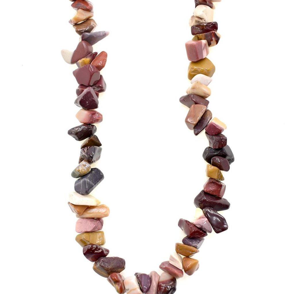 """Moukaite Stone Chip 36"""" Strand"""