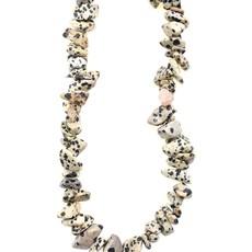 """Dalmatian Jasper Stone Chip 36"""" Strand"""