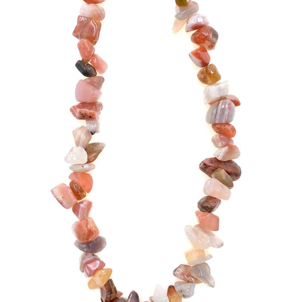 """Mixed Agate Stone Chip 32"""" Strand"""