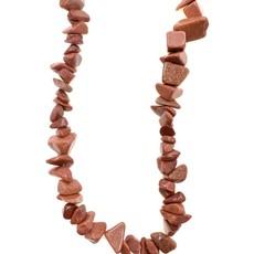"""Goldstone Stone Chip 36"""" Strand"""