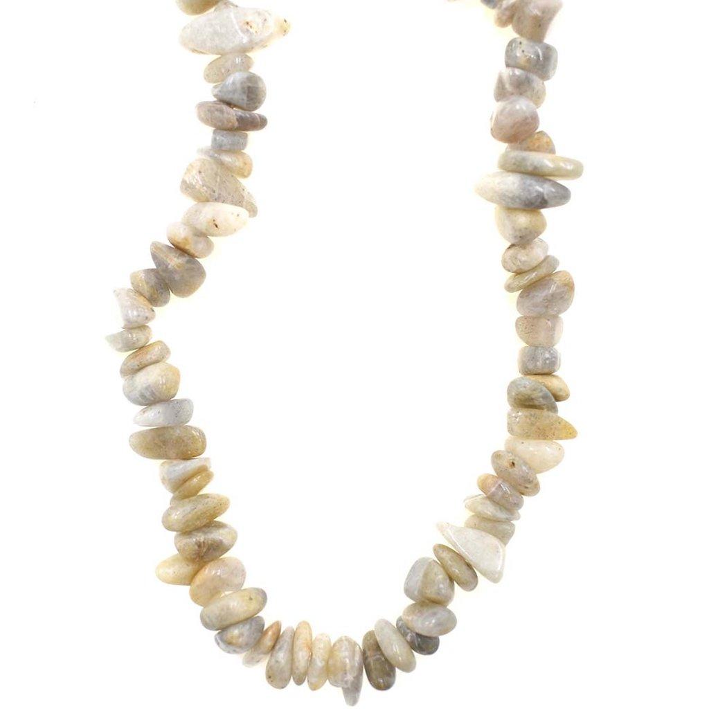 "Labradorite  Stone Chip 36"" Strand"