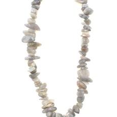 "Labradorite  Stone Chip 34"" Strand"