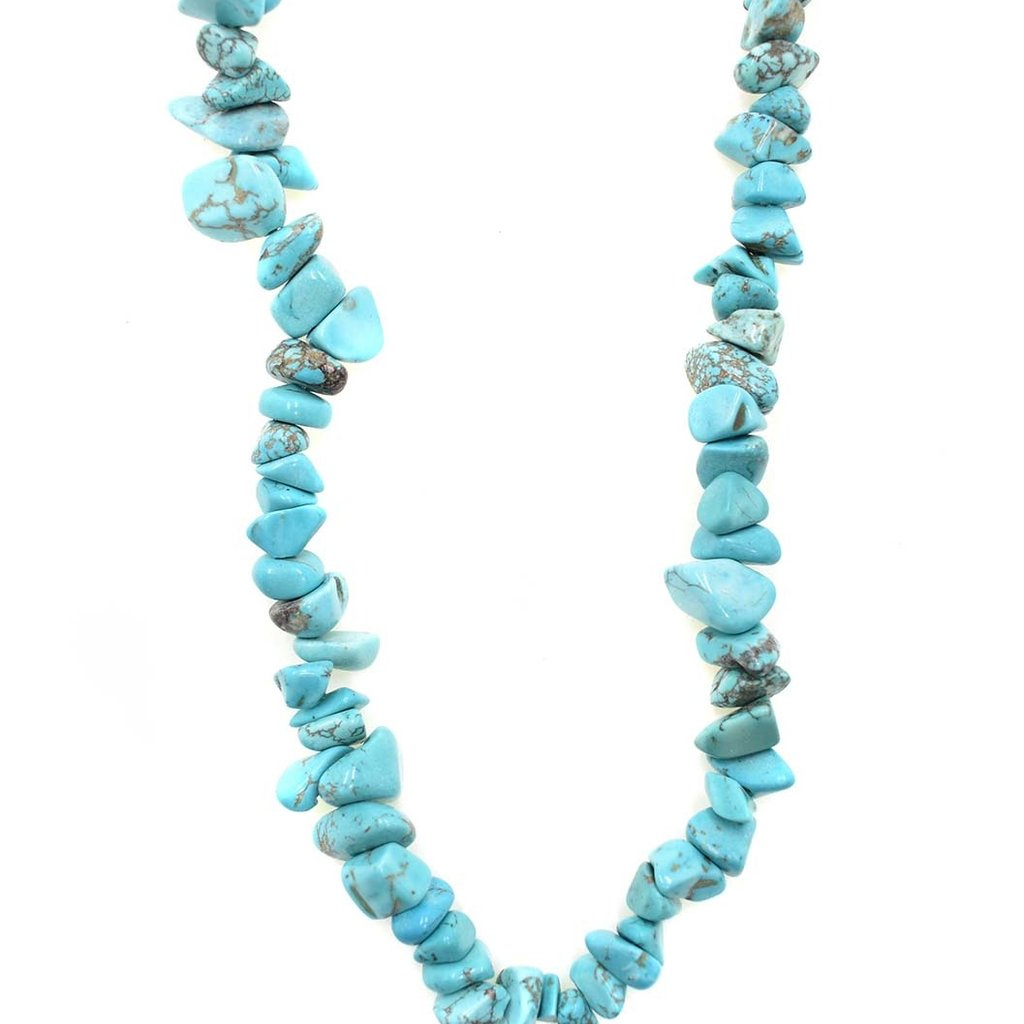 "Magnesite (dyed/stabilized) Stone Chip 36"" Strand"