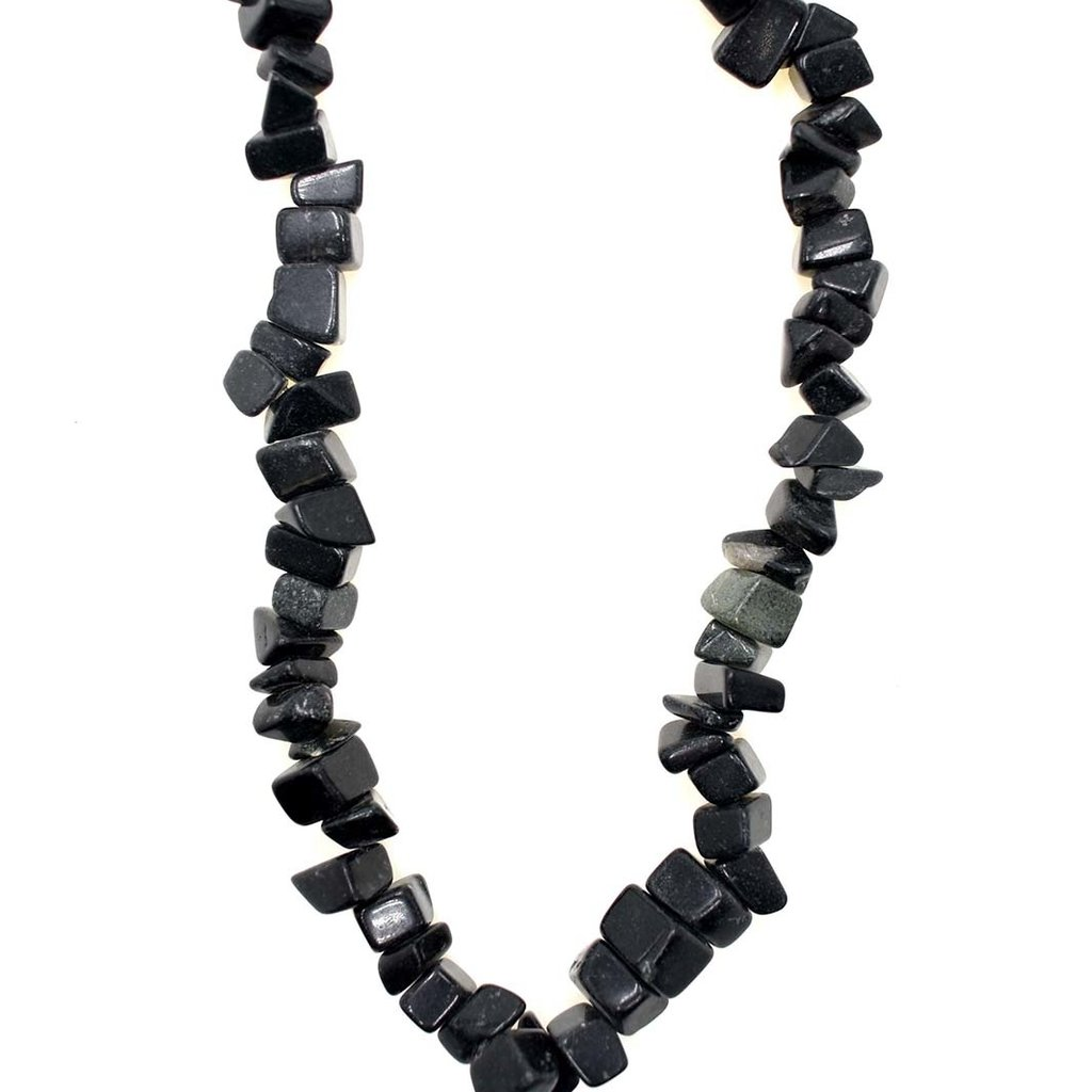 "Obsidian  Stone Chip 34"" Strand"