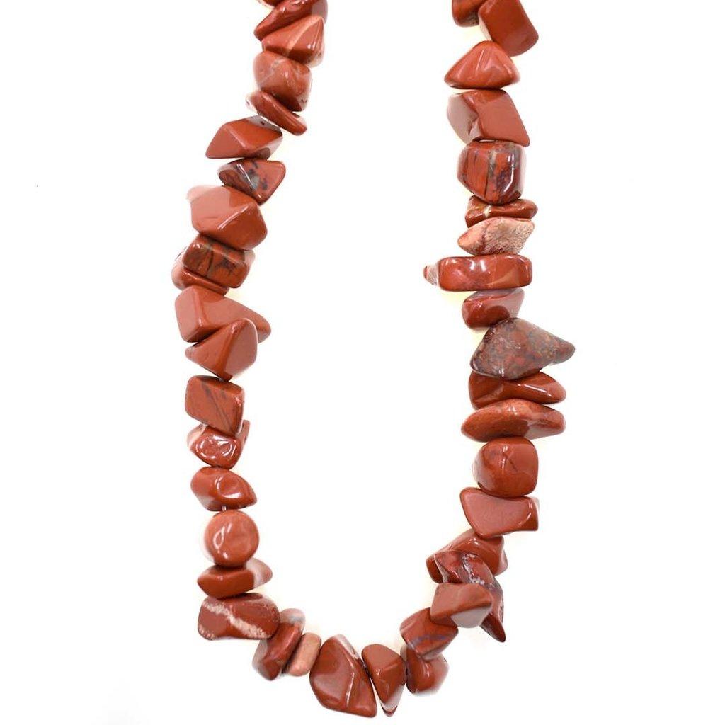 """Red Jasper  Stone Chip 36"""" Strand"""