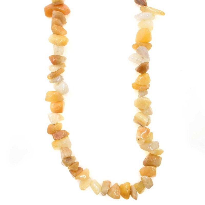 """Yellow Adventurine Stone Chip 36"""" Strand"""