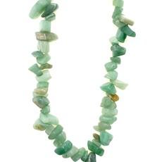 "Green Adventurine  Stone Chip 36"" Strand"