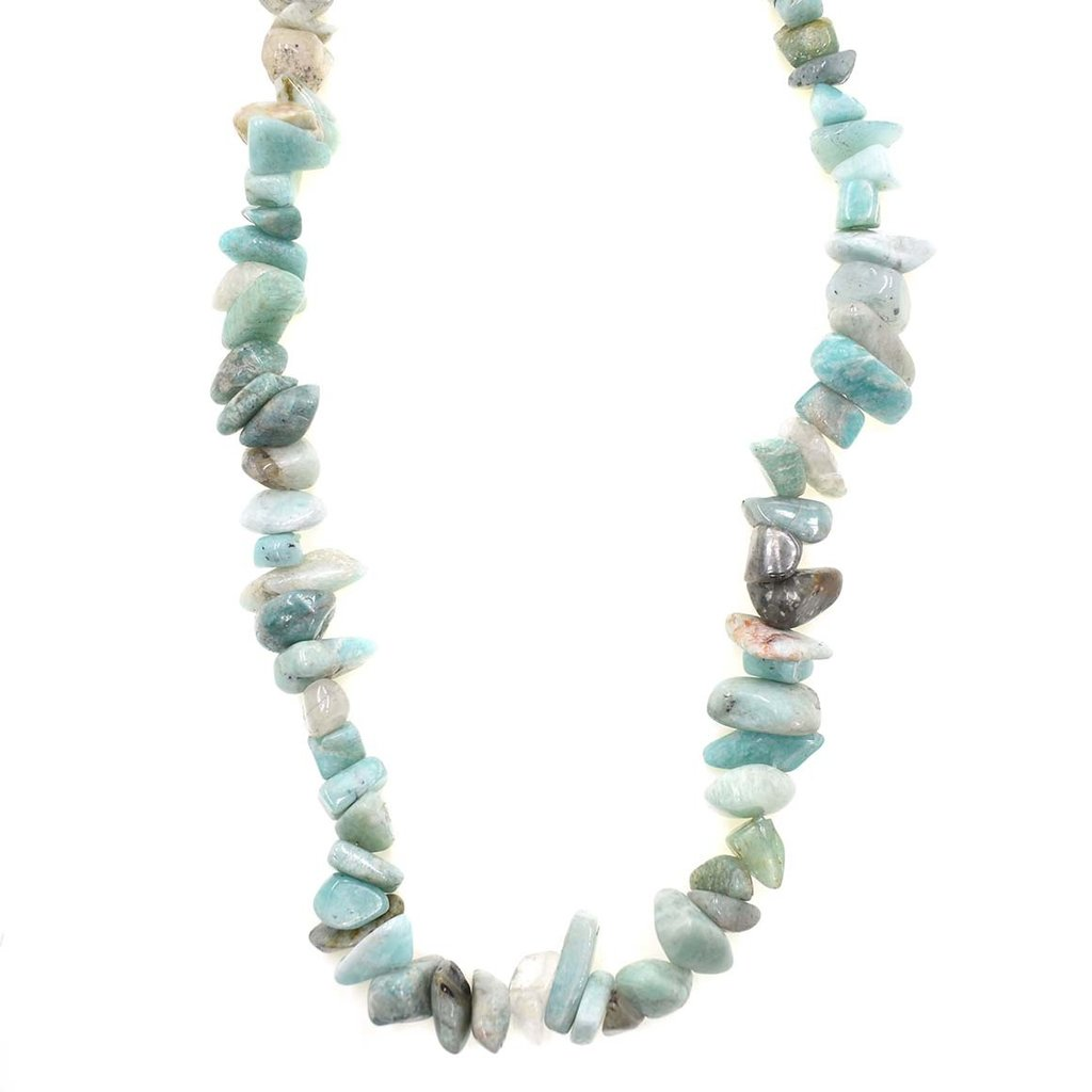 "Amazonite Stone Chip 36"" Strand"