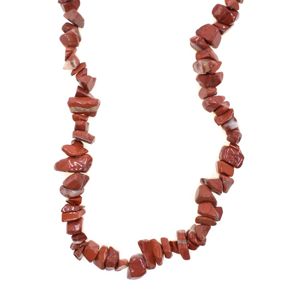 """Red Jasper  Stone Chip 34"""" Strand"""