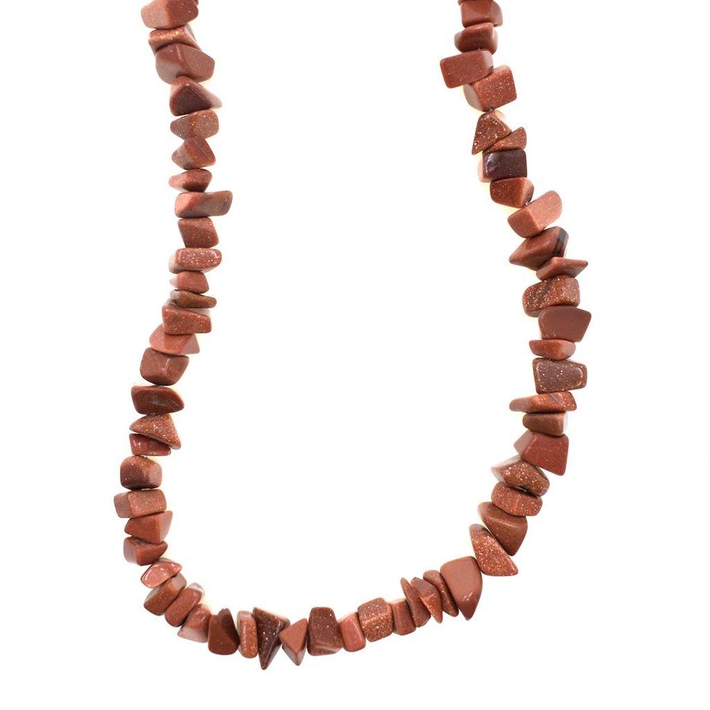 """Goldstone Stone Chip 34"""" Strand"""