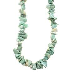 """Green Spotted Jasper  Stone Chip 36"""" Strand"""