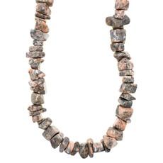 """Pink Zebra Jasper Stone Chip 36"""" Strand"""