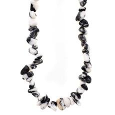 """Zebra Jasper Stone Chip 36"""" Strand"""