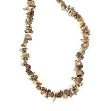 """Leopard Skin Jasper Stone Chip 36"""" Strand"""