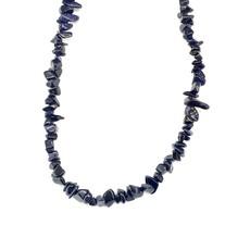 """Blue Goldstone Stone Chip 34"""" Strand"""