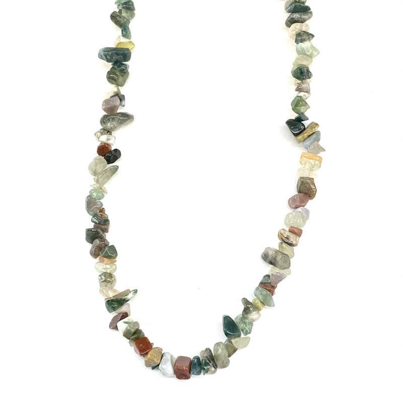 """Indian Agate Stone Chip 33"""" Strand"""