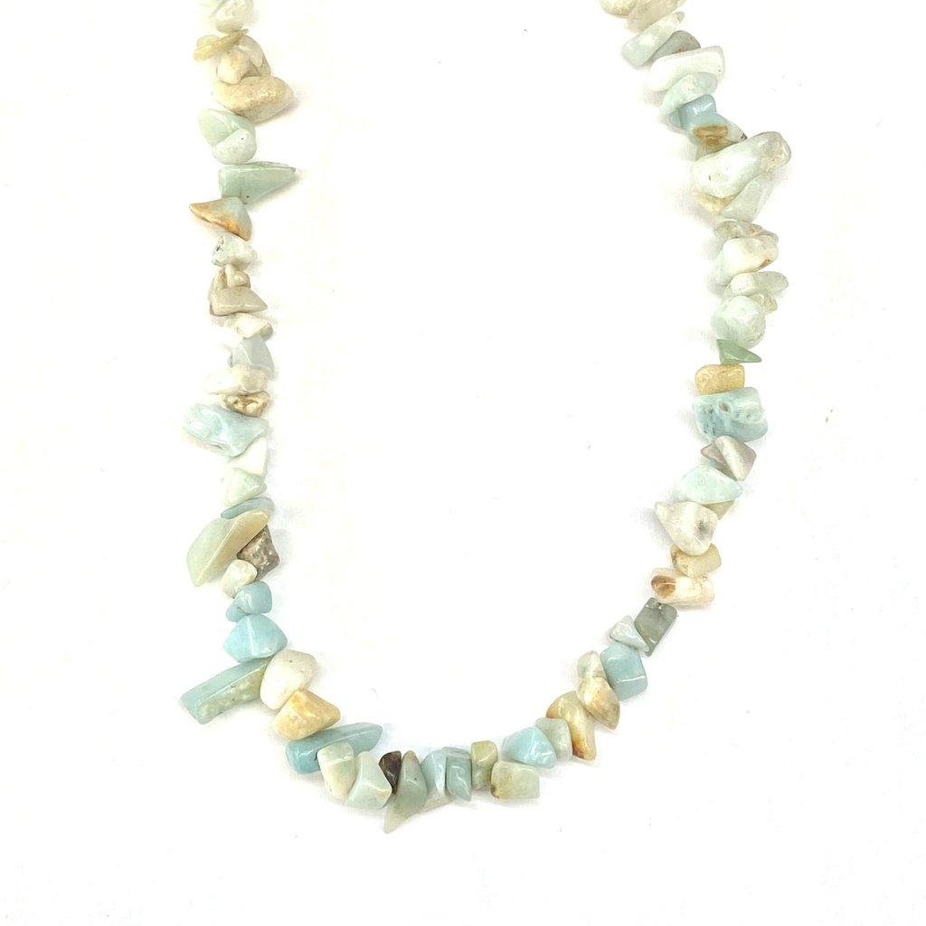 "Amazonite  Stone Chip 34"" Strand"