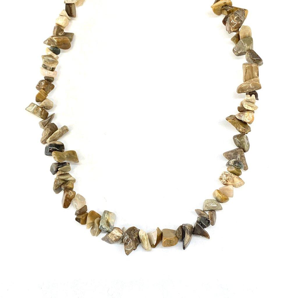 "Imperial Jasper Stone Chip 32"" Strand"