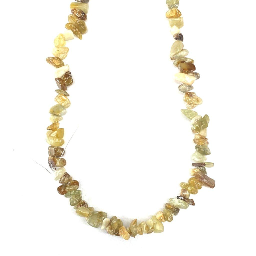 "Flower Agate Stone Chip 36"" Strand"