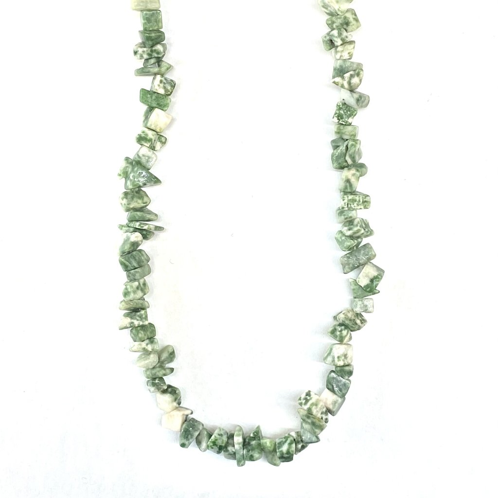 "Tree Agate Stone Chip 35"" Strand"