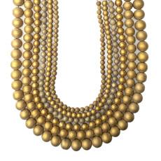 "Druzy Bead Gold 16"" Strand"
