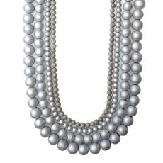 """Druzy Bead Silver 16"""" Strand"""