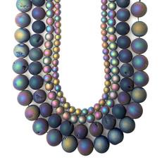 """Druzy Bead Multi-Colored 16"""" Strand"""