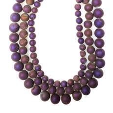 "Druzy Bead Purple 16"" Connected Strand"
