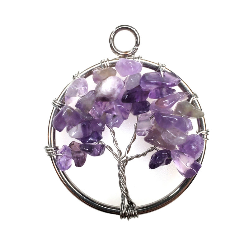 "Tree of Life Amethyst 1"" Pendant"
