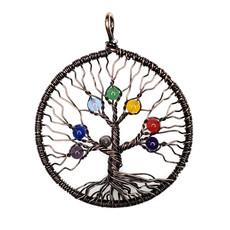 "Tree of Life Copper Chakra 2"" Pendant"