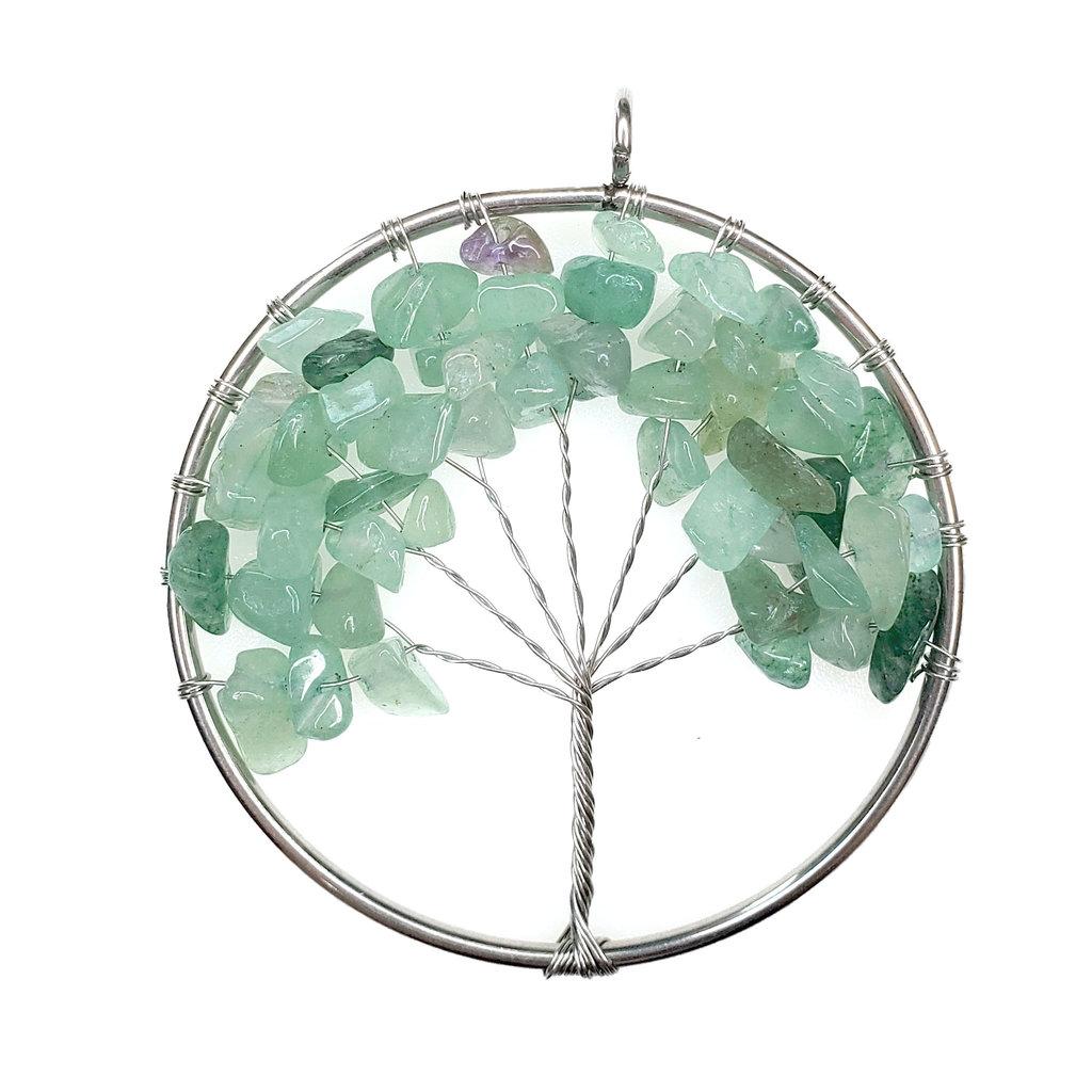 "Tree of Life Green Aventurine 2"" Pendant"