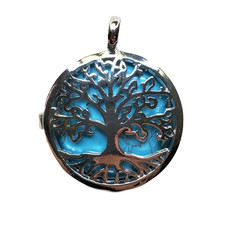 """Cage Tree of Life Turquoise 1"""" Pendant"""