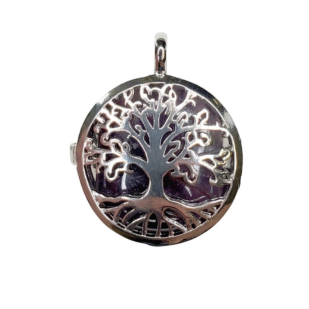 "Cage Tree of Life Amethyst 1"" Pendant"