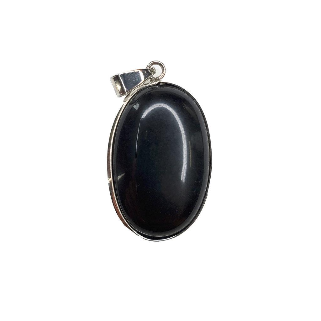 "Oval Black Onyx 1"" Pendant"