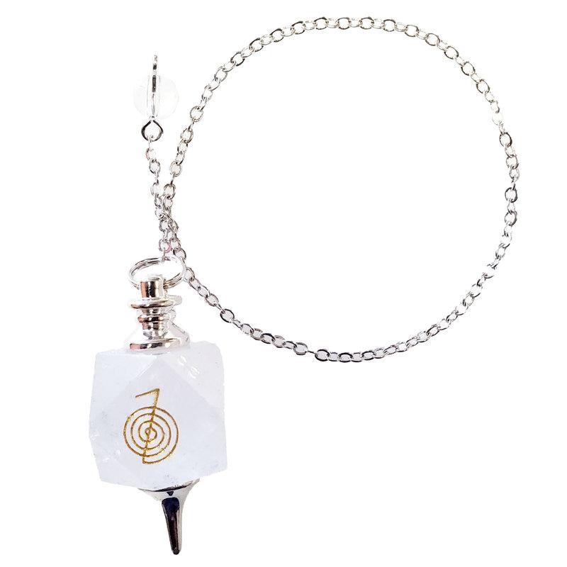 Clear Quartz Pendulum with Chain