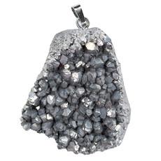 Silver Druzy Pendant