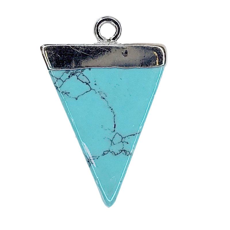 Turquoise Triangular Pendant