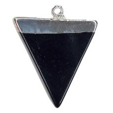 Black Onyx Triangular Pendant