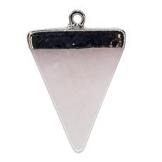Rose Quartz Triangular Pendant