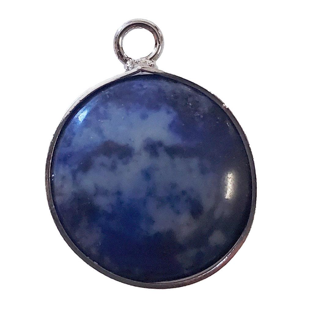 Lapis Lazuli Round Single Loop Connector