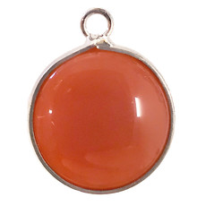 Carnelian Round Single Loop Connector